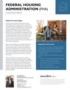 FHA loan fact sheet